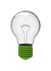 3d illustration of lamp bulb