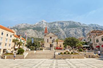 Center of the town of Makarska, Croatia