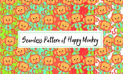 happy monkey in cap, set of monkey little boy in clothes and cap in cartoon style, lucky monkey in a cap