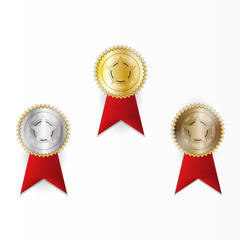 The award of the best organization. Winner.  Achievement Icon Isolated on White Background.