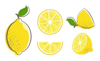 lemon fruit set