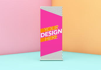 Roll-up Poster Mockup