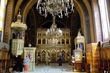 Obraz Rumunia, Transylwania - wnętrze cerkwi na Starym Mieście w Brasov - fototapety do salonu