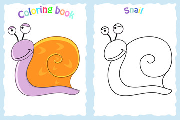 Coloring book page for preschool children