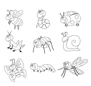 Coloring page for preschool children.