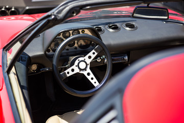 Vintage Sports Car Steering wheel