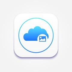 Cloud Photo Storage Icon : Cloud Computing Concept