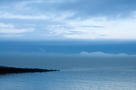 Beautiful Northern Canada Seascape with Fog