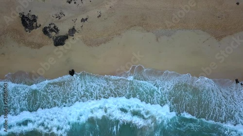 Tropical beach video loop showing never ending footage with aerial
