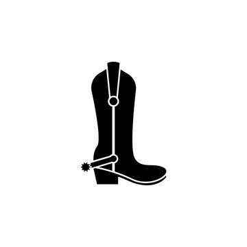 cowboy boots icon. Element of wild west icon for mobile concept and web apps. Material style cowboy boots icon can be used for web and mobile