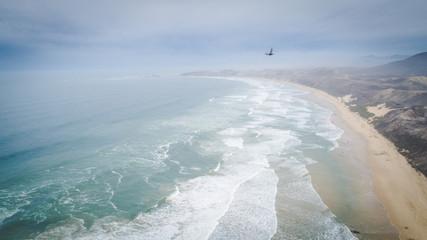 Aerial photos of the beach at Brenton-on-sea near knysna on the garden route of south africa