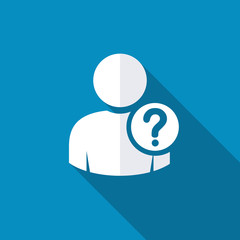 User silhouette with question mark - icon