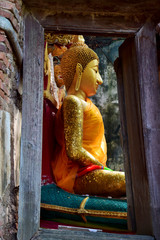 The old Buddha image in Thailand