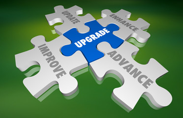 Upgrade Update Improve New Modernize Puzzle 3d Illustration