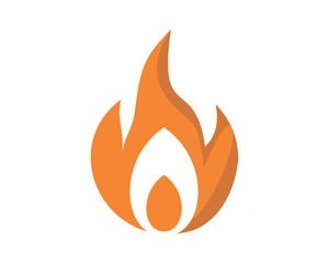 burning fire flame flare bonfire heat image vector icon logo symbol
