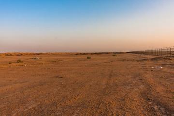 A desert landscape near King Abdulaziz Field Equestrian, Riyadh