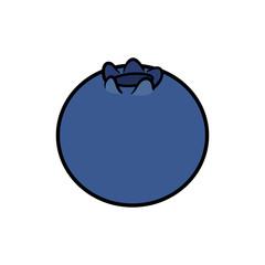 Cartoon Blueberry Illustration