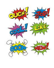 Set of bubble comic speech. vector illustration.