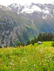 Beautiful panoramic view of picturesque rural mountain