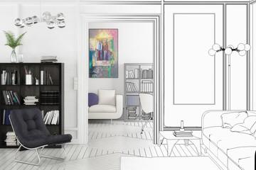 Projekt einer Apartment-Einrichtung (Planung)