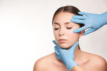 Spa woman treatment. Doctor dermatology clinic. Cosmetology, beauty skin