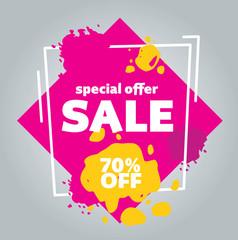 Color sale template design vector banner