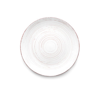 Clean plate on white background