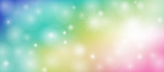 Fototapeta Sfondo arcobaleno con punti luce e brillantini