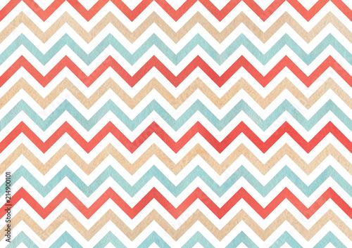 Watercolor stripes background, chevron