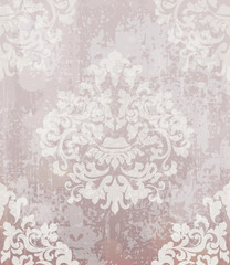 Vintage baroque pattern Vector. Beautiful ornament decor. Royal luxury texture backgrounds. Pink lavender colors