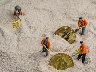 Symbolfoto für das Schürfen von Bitcoins