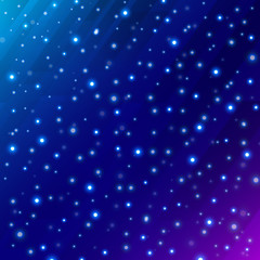 Abstract universe scientific outer space on dark blue background with meteor circle glowing.