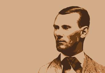 Jesse James - portrait - bandit - personnage - historique - célèbre - américain - hold-up - banque