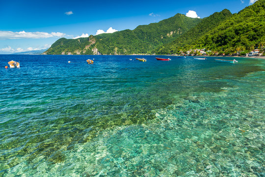 Soufriere Bay, Dominica, Caribbean
