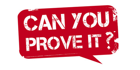 can you prove it - red stamp