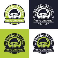 mushroom farm logo design