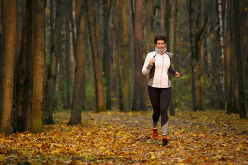 Full-length photo of woman on morning run