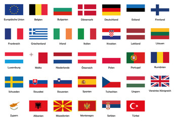 All National Flags Of European Union