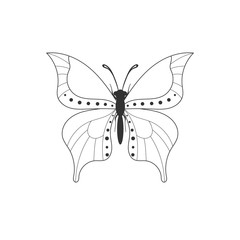 Abstract butterfly outline icon