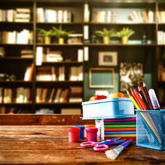 dark mood photo of school background and free space for your decoration.