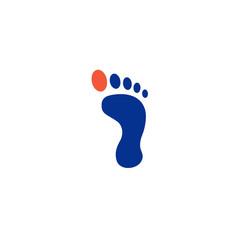 Foot palm logo design template