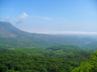 mountain sky nature forest landscape