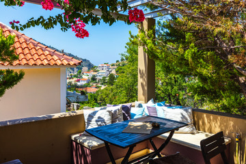 Sunny greek veranda