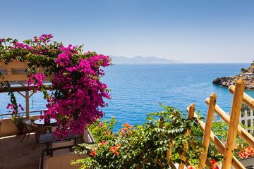Colorful Ioanian landscape