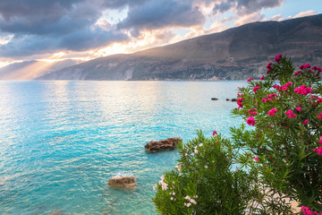Amazing summer morning by the Greek seaside