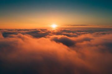 Door stickers Heaven Orange clouds in the morning