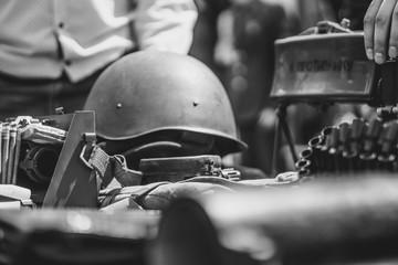 military helmet lies