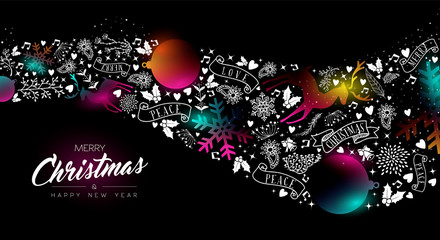 Wall Mural - Christmas and New Year glow gradient decoration