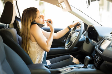 Careless female driver