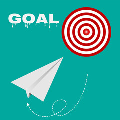 Target route success business, Strategy concept goals vector EPS 10.